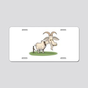 Goofy Billy Goat Aluminum License Plate
