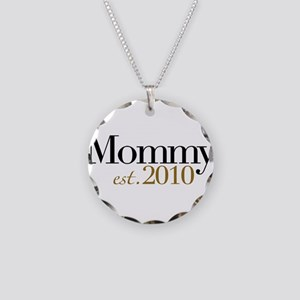 New Mommy 2010 Necklace Circle Charm
