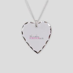 Cancer Survivor Looks Like Necklace Heart Charm