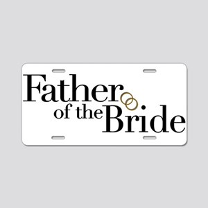 Father of the Bride Aluminum License Plate