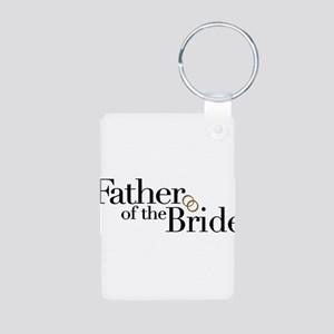 Father of the Bride Aluminum Photo Keychain