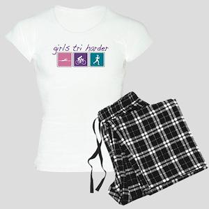 Girls Tri Harder Women's Light Pajamas