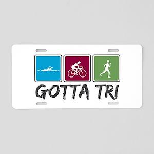 Gotta Tri (Triathlon) Aluminum License Plate