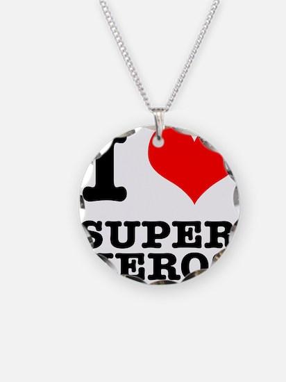 I Heart (Love) Super Heros Necklace