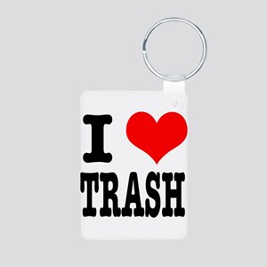I Heart (Love) Trash Aluminum Photo Keychain