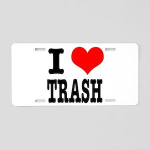 I Heart (Love) Trash Aluminum License Plate