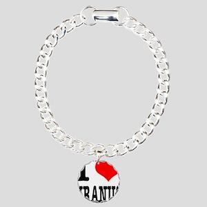 I Heart (Love) Uranus Charm Bracelet, One Charm