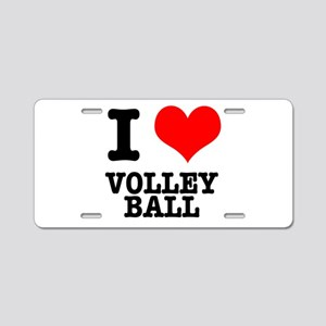 I Heart (Love) Volleyball Aluminum License Plate