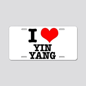 I Heart (Love) Yin Yang Aluminum License Plate