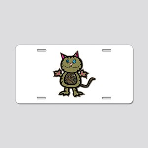 Camo Kitty Aluminum License Plate