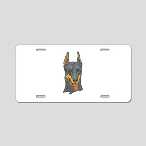 Doberman Aluminum License Plate