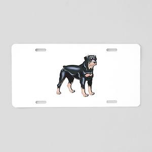 Rottweiler Aluminum License Plate