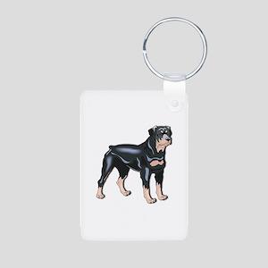 Rottweiler Aluminum Photo Keychain