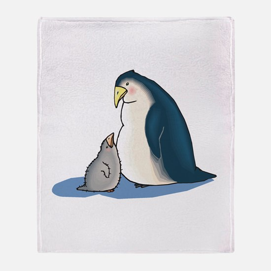 Mommy/Daddy & Baby Penguin Throw Blanket