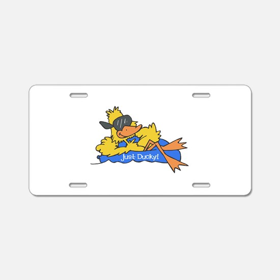 Ducky on a Raft Aluminum License Plate
