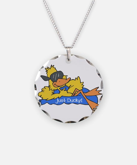 Ducky on a Raft Necklace
