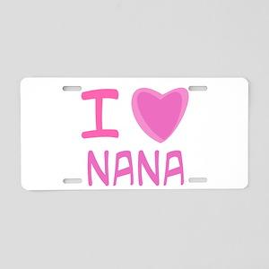Pink I Heart (Love) Nana Aluminum License Plate