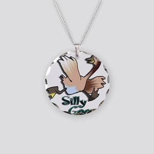 Silly Goose Necklace Circle Charm