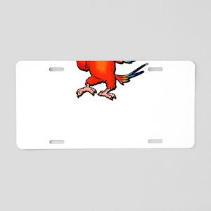 Flipping Bird Aluminum License Plate