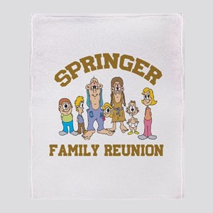Springer Hillbilly Family Reu Throw Blanket