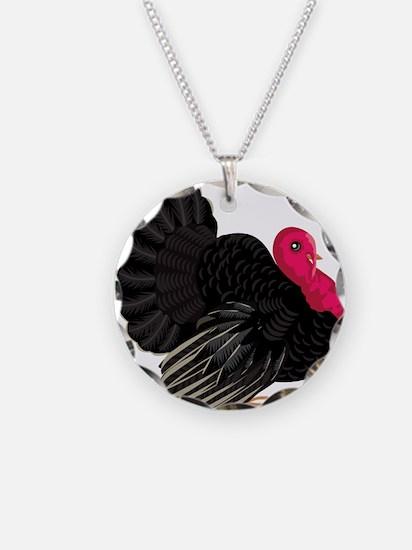 Black Wild Turkey Necklace