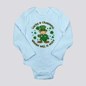 Lucky & Charming Kids Long Sleeve Infant Bodysuit