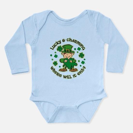 Lucky & Charming Kids Long Sleeve Infant Bodysuit
