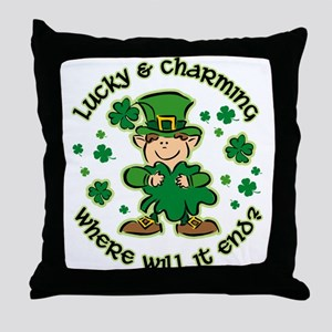 Lucky & Charming Kids Throw Pillow
