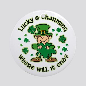 Lucky & Charming Kids Ornament (Round)