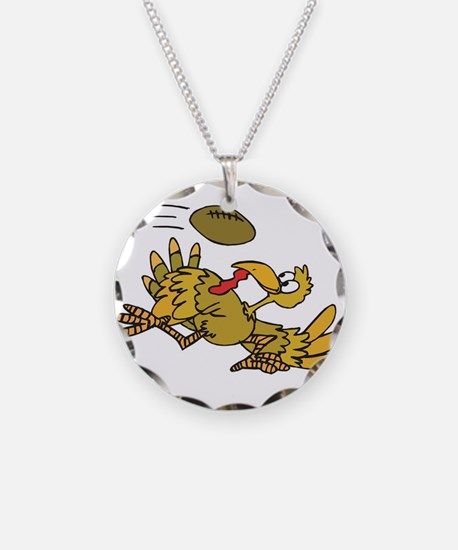 Turkey Playing Football Necklace
