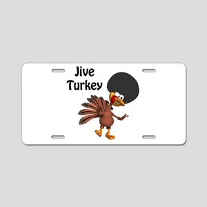 Funny Afro Jive Turkey Aluminum License Plate