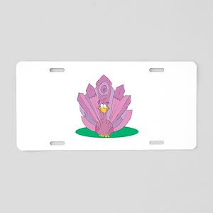 Cute Purple Peacock Aluminum License Plate