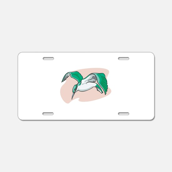 Alcyon Bird Aluminum License Plate