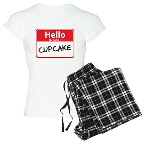 Hello My Name is Cupcake Women's Light Pajamas