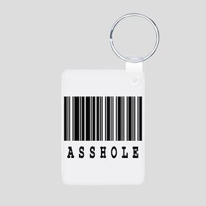 Asshole Barcode Design Aluminum Photo Keychain