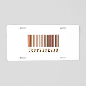 Coffee Freak Barcode Design Aluminum License Plate