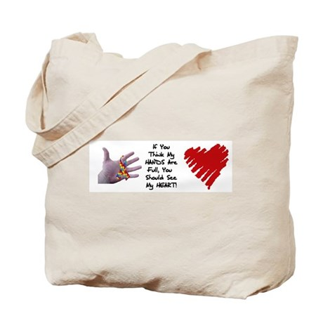autism my heart is full Tote Bag