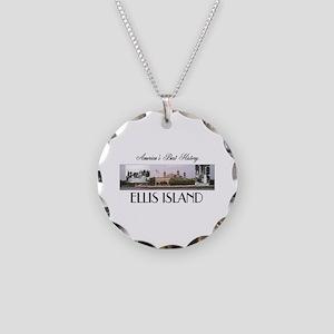 ABH Ellis Island Necklace Circle Charm