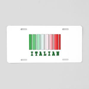Italian Barcode Design Aluminum License Plate