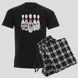 Beat Up Bowling Pins Men's Dark Pajamas