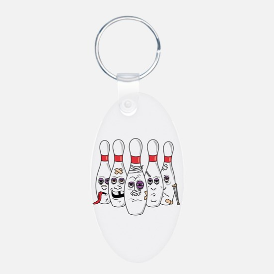 Beat Up Bowling Pins Keychains