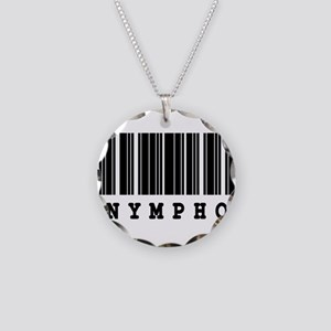 Nympho Barcode Design Necklace Circle Charm