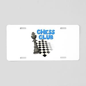 Chess Club Aluminum License Plate