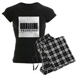Priceless Barcode Design Women's Dark Pajamas