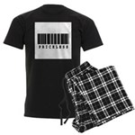 Priceless Barcode Design Men's Dark Pajamas