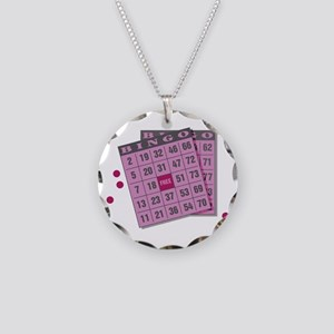 Bingo Cards Necklace Circle Charm