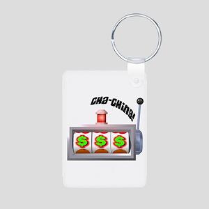 Cha-Ching! Slots! Aluminum Photo Keychain
