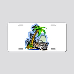 Tropical Scene Aluminum License Plate