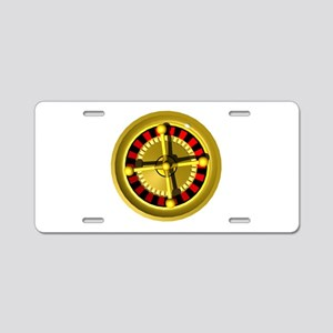 Roulette Wheel Aluminum License Plate
