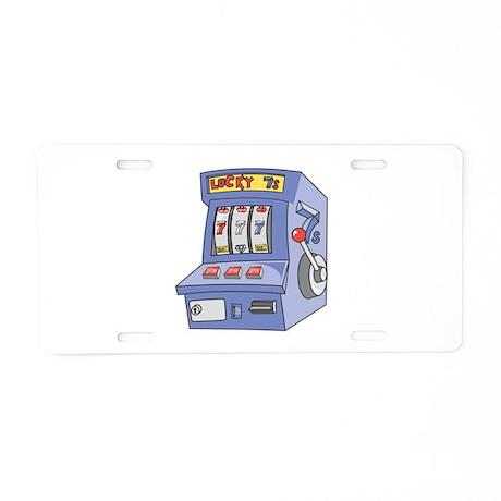 Slot Machine Aluminum License Plate
